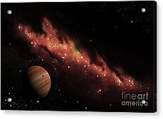 Artists Concept Of An H II Region Acrylic Print by Brian Christensen