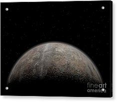 Artists Concept Of Pluto Acrylic Print by Walter Myers
