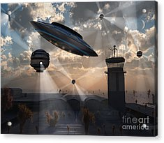 Artists Concept Of Stealth Technology Acrylic Print by Mark Stevenson