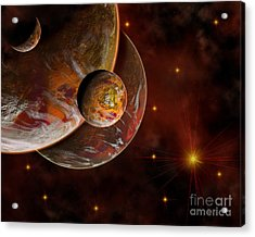 Artists Concept Of The Birth Place Acrylic Print by Mark Stevenson