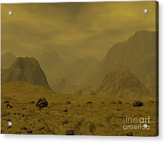 Artists Concept Of The Surface Of Venus Acrylic Print by Walter Myers