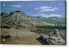 Artist's Impression Of Triassic Period Landscape. Acrylic Print by Ludek Pesek