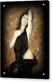 Artists Model Acrylic Print by Jan Farthing