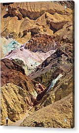 Artist's Palette At Death Valley Acrylic Print by Levin Rodriguez