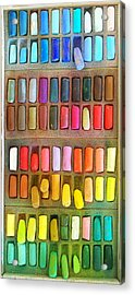 Artists Rainbow Acrylic Print