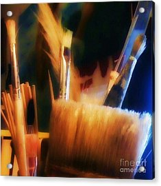 Artists Tools Acrylic Print by Isabella F Abbie Shores FRSA