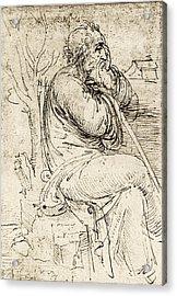 Artwork By Leonardo Da Vinci Acrylic Print by Sheila Terry