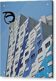 Artwork On The Vertical Acrylic Print by Kirsten Giving