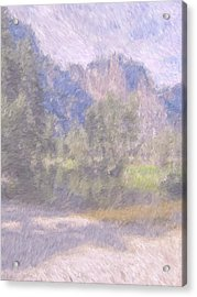 As If Monet Painted Yosemite Acrylic Print by Heidi Smith