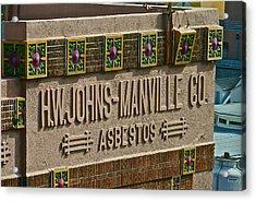 Asbestos Building Acrylic Print