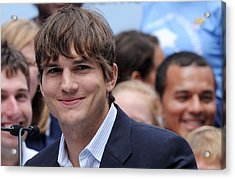 Ashton Kutcher At The Press Conference Acrylic Print by Everett