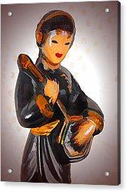 Asian Beauty Minstrel Acrylic Print by Kathy Clark