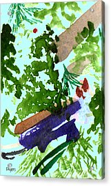 Acrylic Print featuring the painting Asian Garden  by Paula Ayers