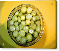 Acrylic Print featuring the photograph Asparagus In A Jar by Kym Backland