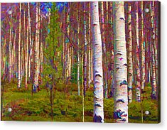 Acrylic Print featuring the digital art Aspen Dawn I by Brian Davis