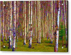 Acrylic Print featuring the digital art Aspen Dawn IIi by Brian Davis