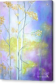 Acrylic Print featuring the painting Aspens  by Barbara Anna Knauf