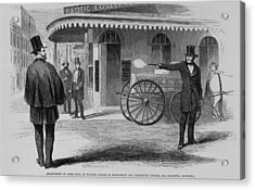Assassination Of James King, Newspaper Acrylic Print by Everett