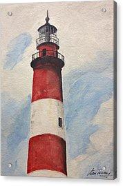 Assateague Lighthouse  Acrylic Print by Stan Tenney