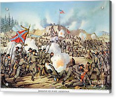 Assault On Fort Sanders Acrylic Print by Granger