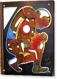 Assemblage Painting A Acrylic Print