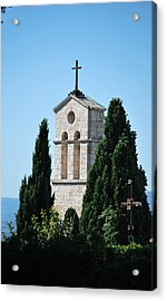 Acrylic Print featuring the photograph Assisi Crosses by Amee Cave