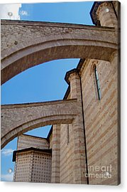 Assisi Italy - Basilica Of Santa Chiara Acrylic Print by Gregory Dyer