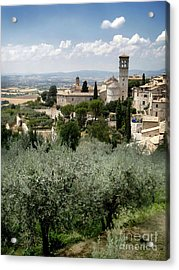 Assisi Italy - Bella Vista - 02 Acrylic Print by Gregory Dyer