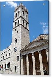 Assisi Italy - Santa Maria Sopra Minerva Acrylic Print by Gregory Dyer