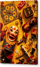 Assorted Old Toys Acrylic Print by Garry Gay