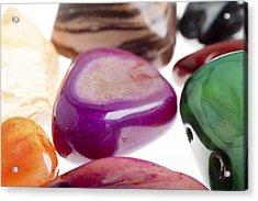 Assortment Of Semiprecious Gemstone Acrylic Print