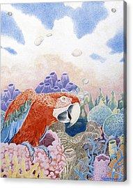 Astarte's Paradise Seven Acrylic Print by Kyra Belan