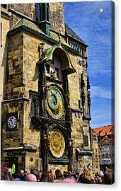 Astonomical Clock    Prague Old Town Acrylic Print by Jon Berghoff