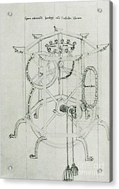 Astrarium Sketch By Giovanni De Dondi Acrylic Print by Science Source