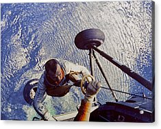 Astronaut Alan B. Shepard Is Hoisted Acrylic Print by Everett
