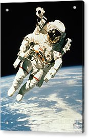 Astronaut In Space Acrylic Print by NASA / Science Source
