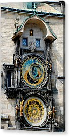 Astronomical Clock Acrylic Print by Pravine Chester