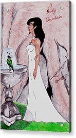 At Barky Fountain Acrylic Print by Lorenzo Depluzer