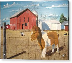 Acrylic Print featuring the painting At Home by Norm Starks