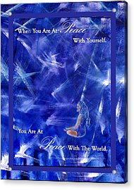 At Peace Acrylic Print by The Art With A Heart By Charlotte Phillips