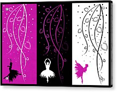 At The Ballet Triptych 2 Acrylic Print by Angelina Vick