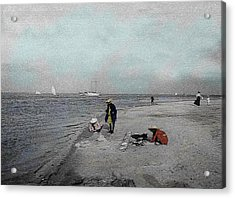 At The Beach Acrylic Print by Andrew Fare