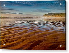 At The Beach Acrylic Print by Ken Stanback