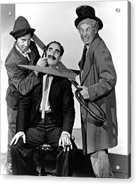 At The Circus, From Left Chico Marx Acrylic Print