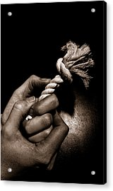 At The End Of My Rope Acrylic Print