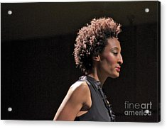 At The Fashion Show Acrylic Print by Sean Griffin
