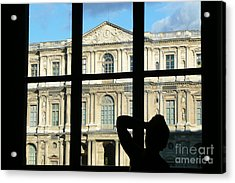 At The Louvre Acrylic Print by Bob and Nancy Kendrick