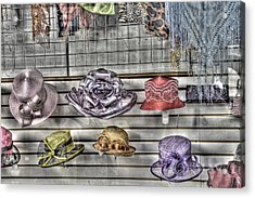 At The Milliners Acrylic Print by William Fields
