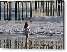 At The Pier Acrylic Print