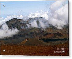 At The Rim Of The Crater Acrylic Print